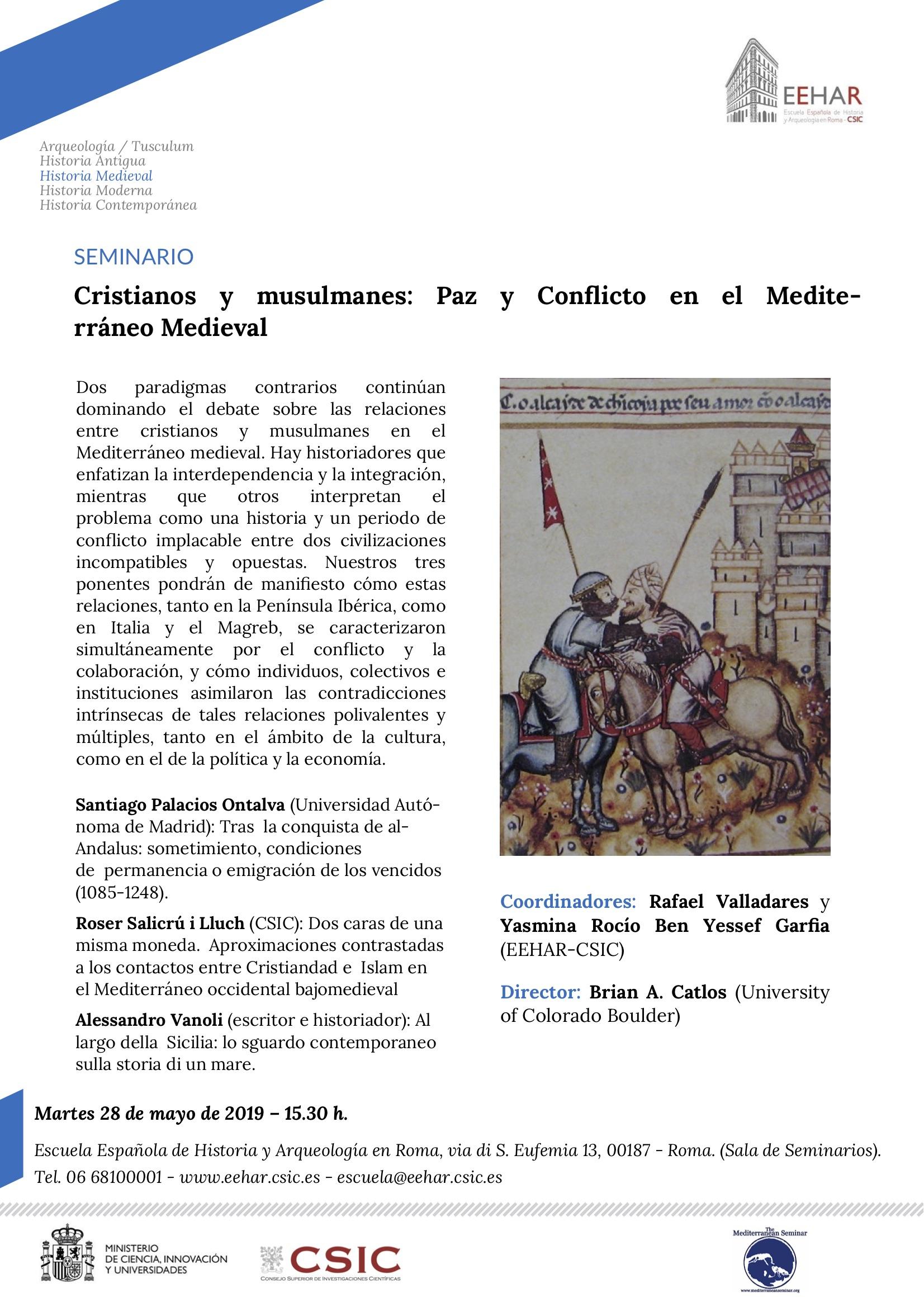 Cristianos y musulmanes: Paz y Conflicto en el Mediterráneo Medieval.jpg