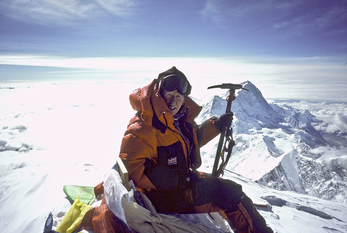 Anne on the summit of Mt Everest (2006)