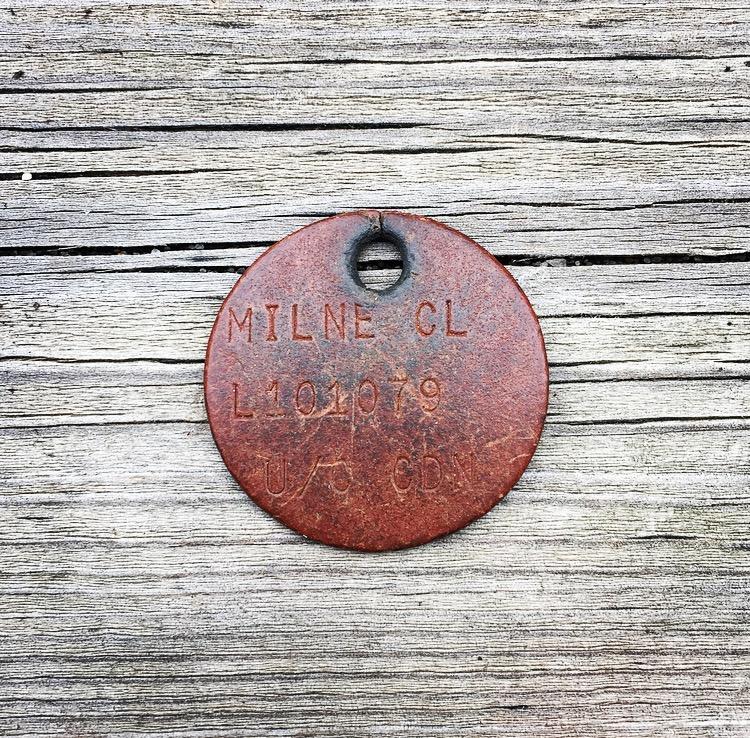 Grandpa's WWII ID tag.
