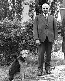 President Harding with Laddie Boy