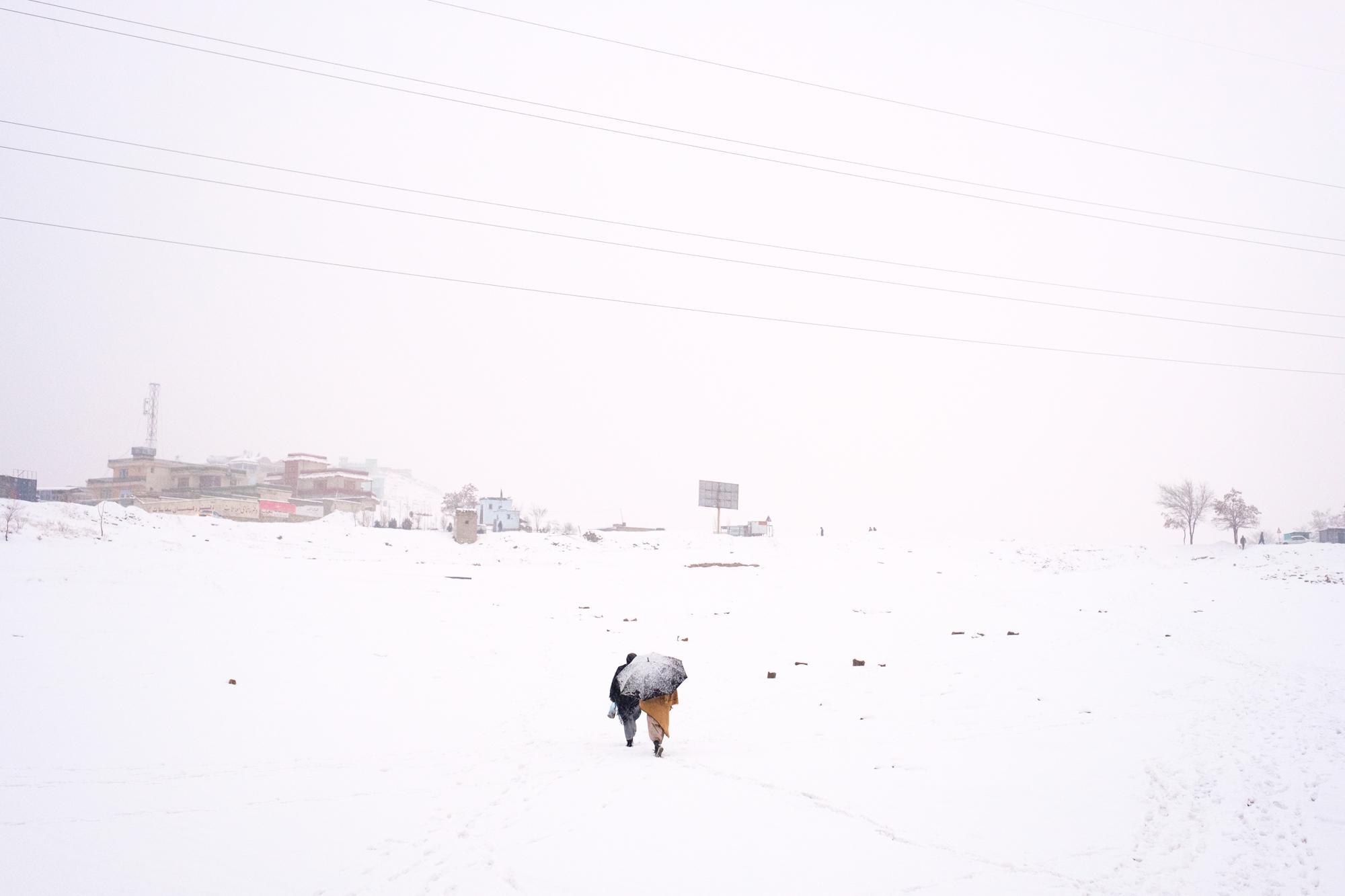 Kabul winterscape. 2017.