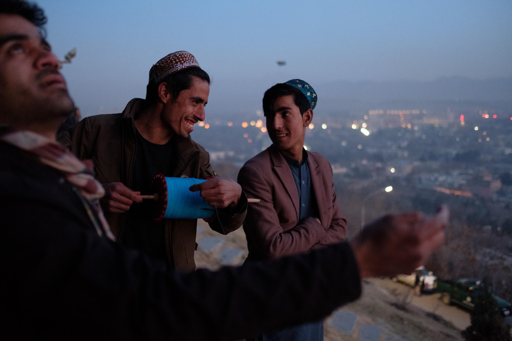 Friday kite-flying session. Kabul, 2018
