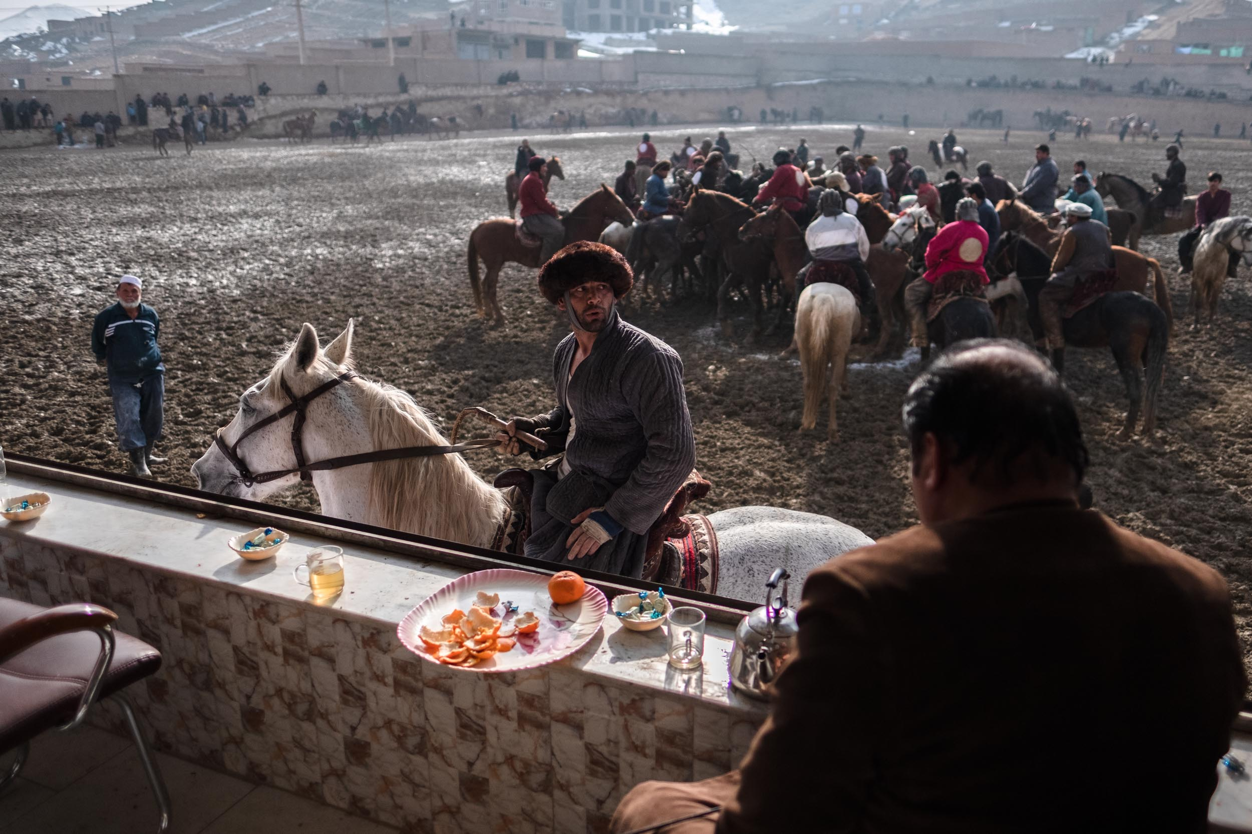 Friday at the Buzkashi. Kabul, 2018