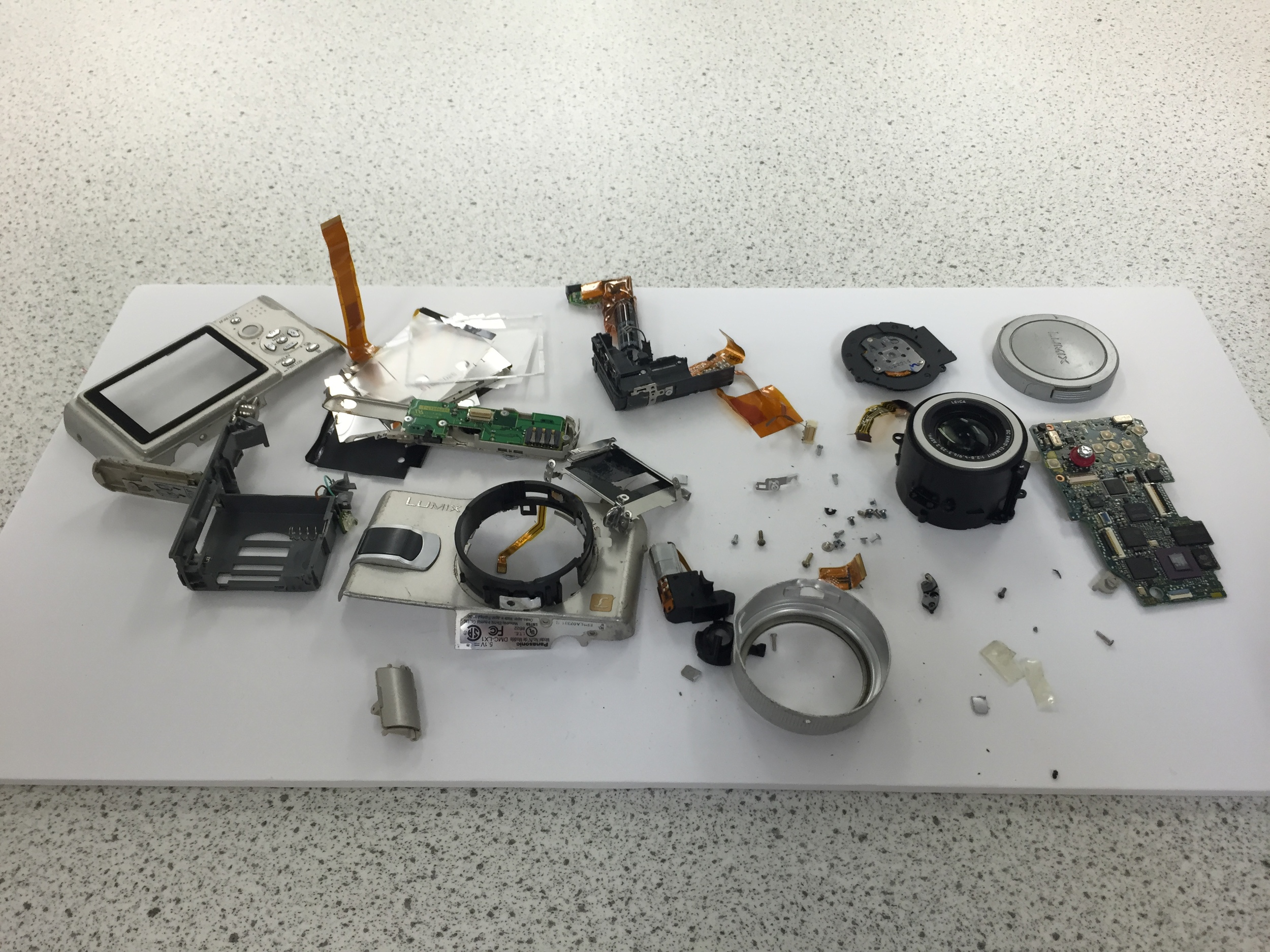 The many different components of a Lumix Camera.