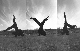 Midnight Cartwheel. Iceland, 1994. Photo: Imants Prēdelis