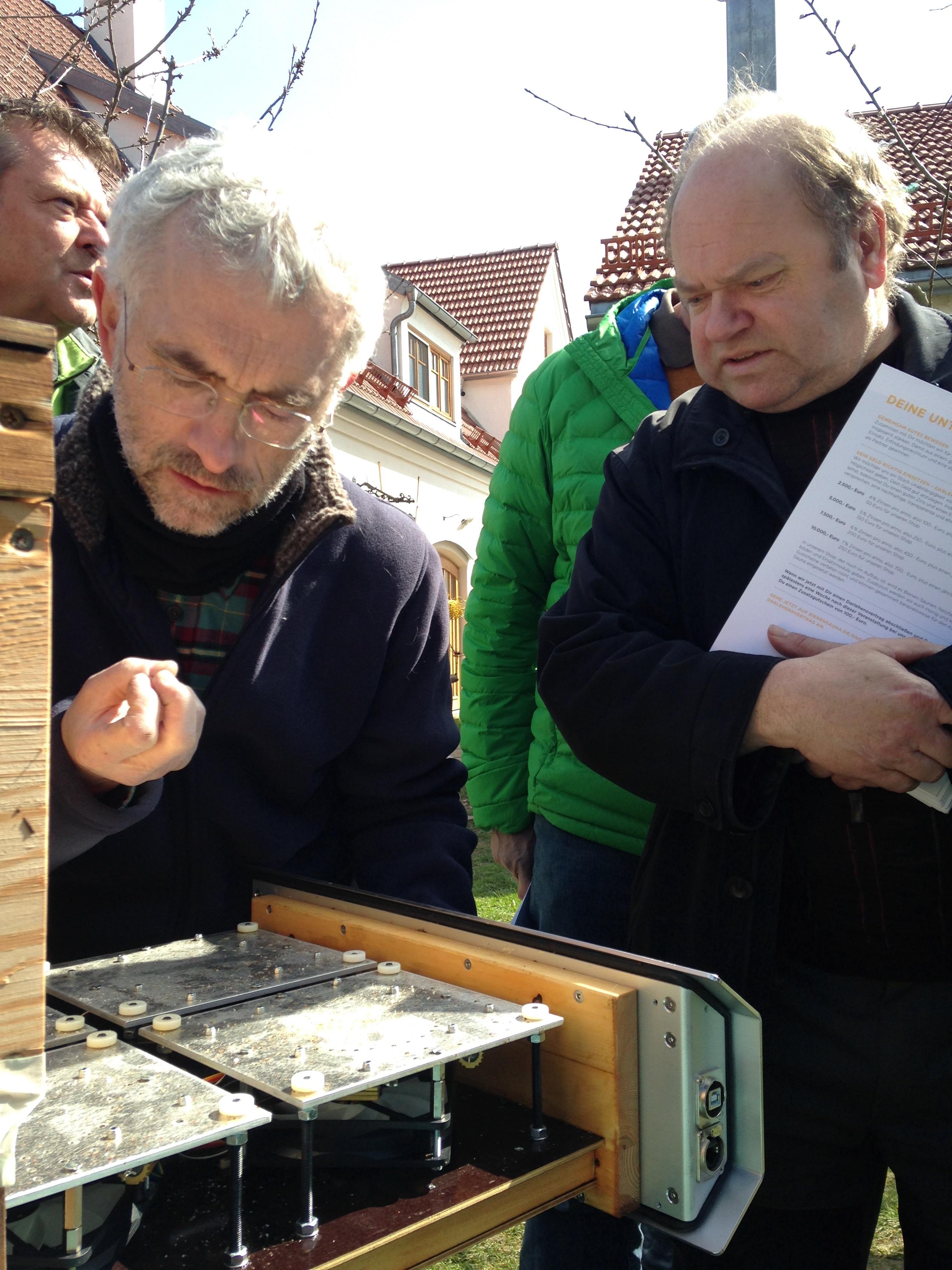 Varroa-Milben Zählung Bienensauna Ingolstadt