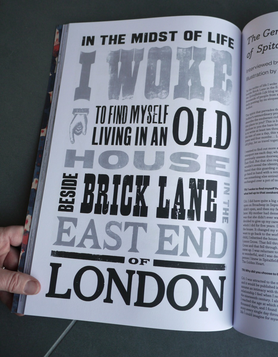 The Gentle Author of Spitalfields Life by Tim Rich and Typoretum