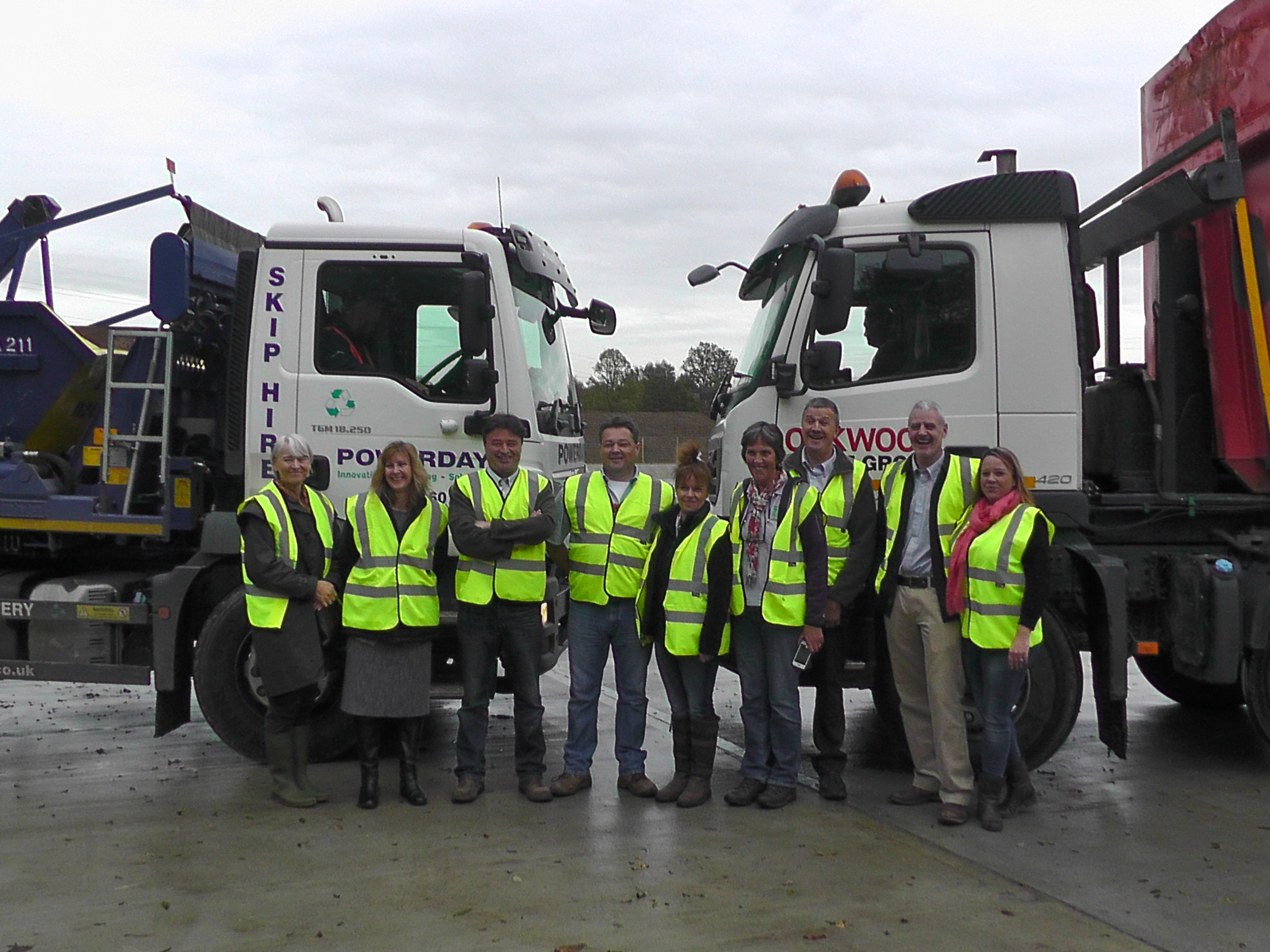 Adrian Williams and partners celebrate the opening of the open windrow facility