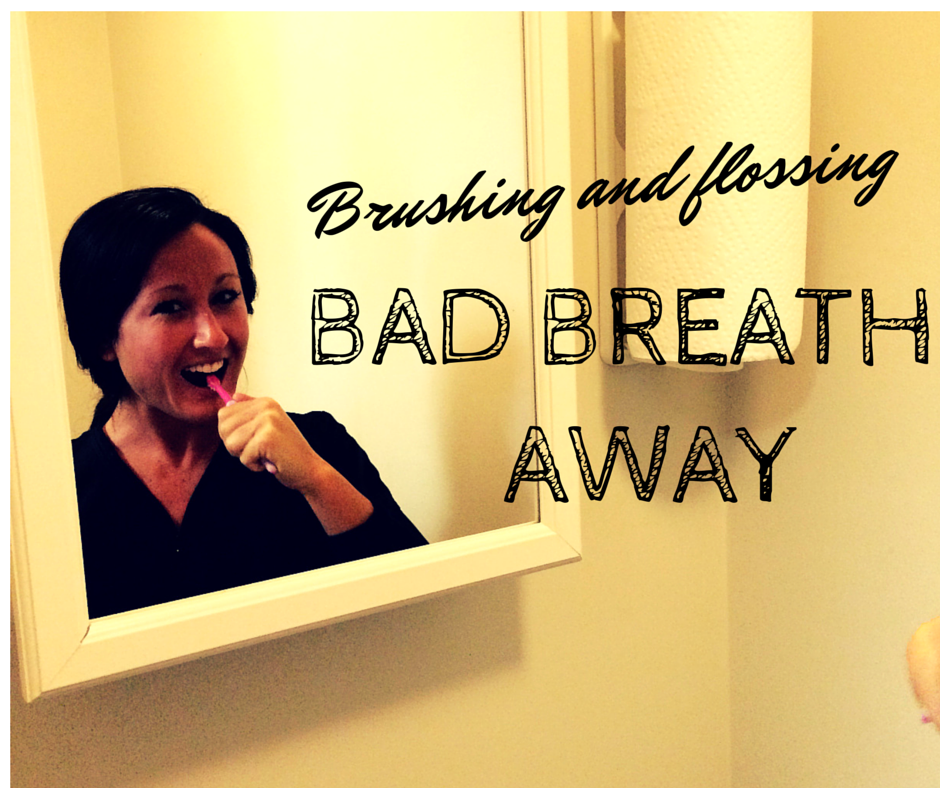Kristen is keeping stinky breath at bay.
