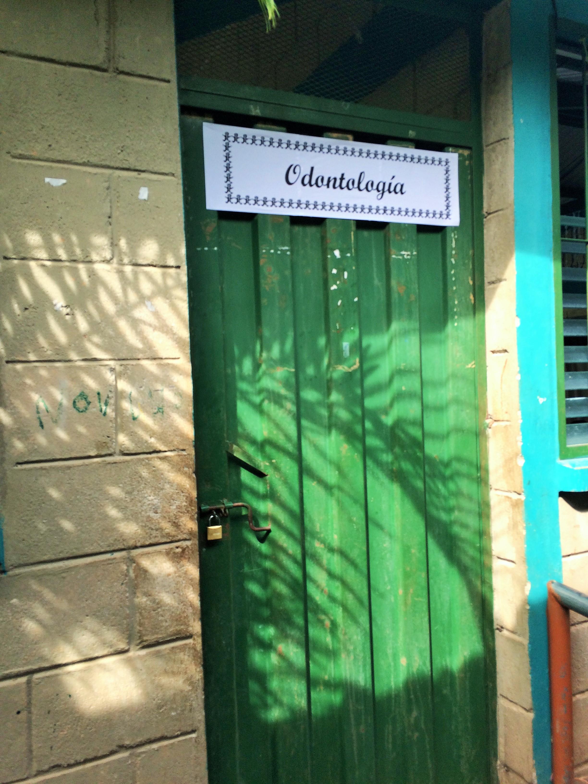 Door to the dental clinic.