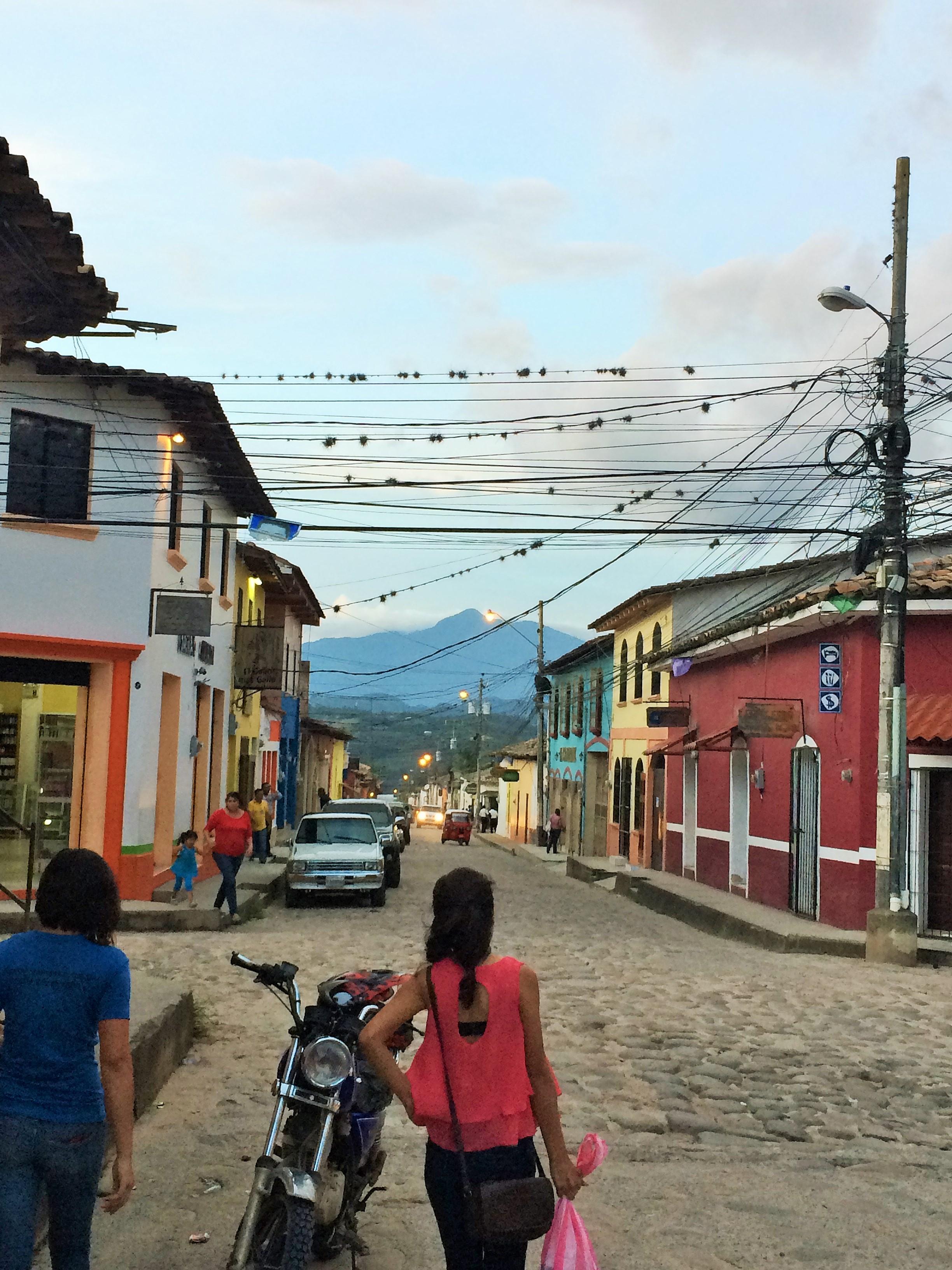 A view of the city of Gracias, Lempira.