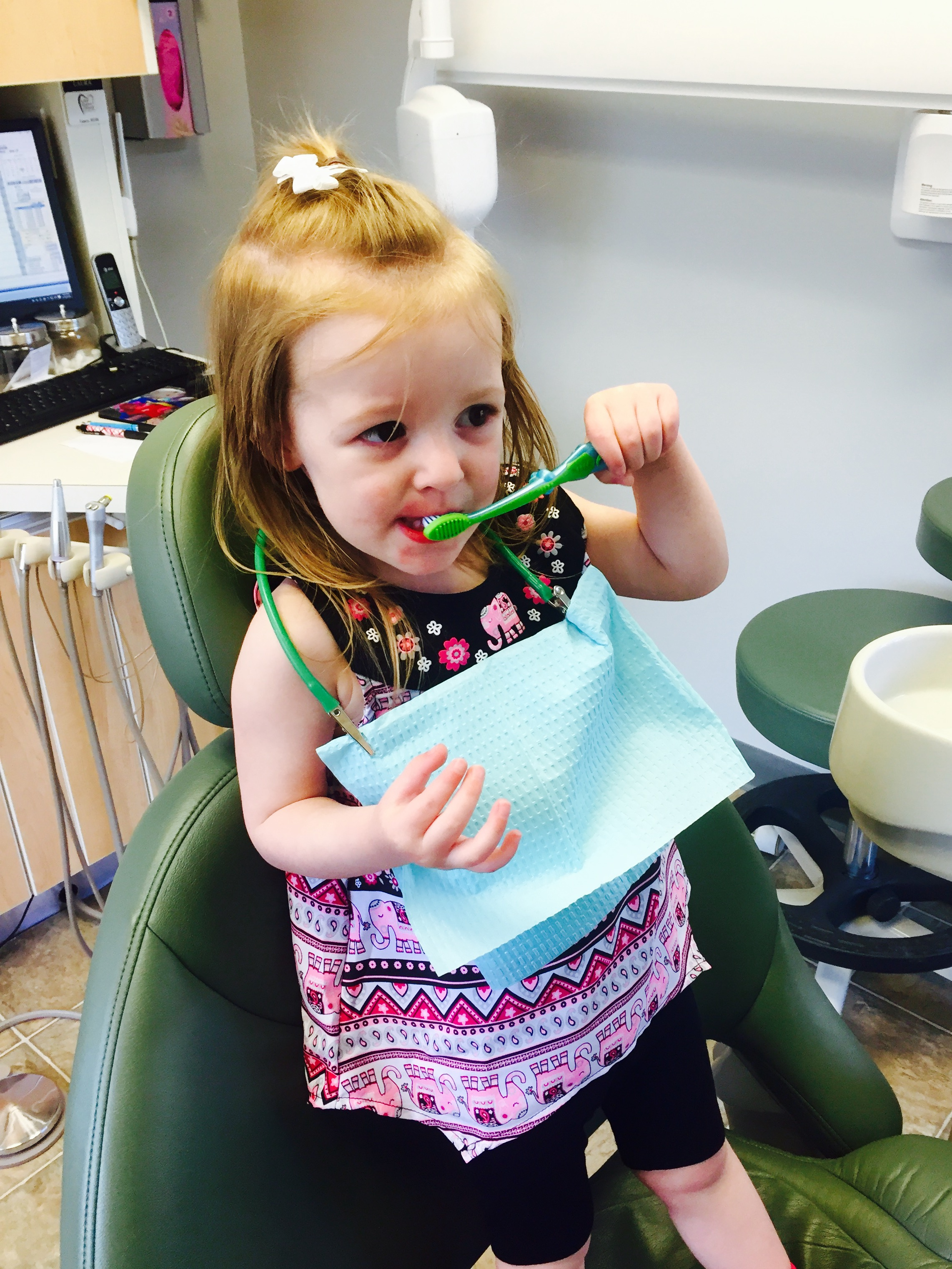 By beginning dental visits around age 1, kids can get used visiting the dentist and are actually excited to see us!