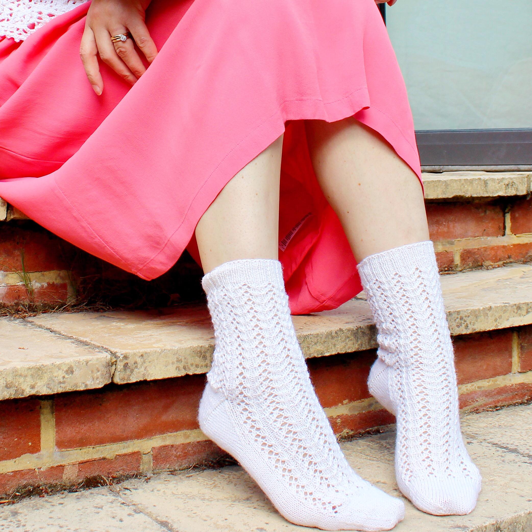 Mercury Socks - in Regia 4ply, Super White