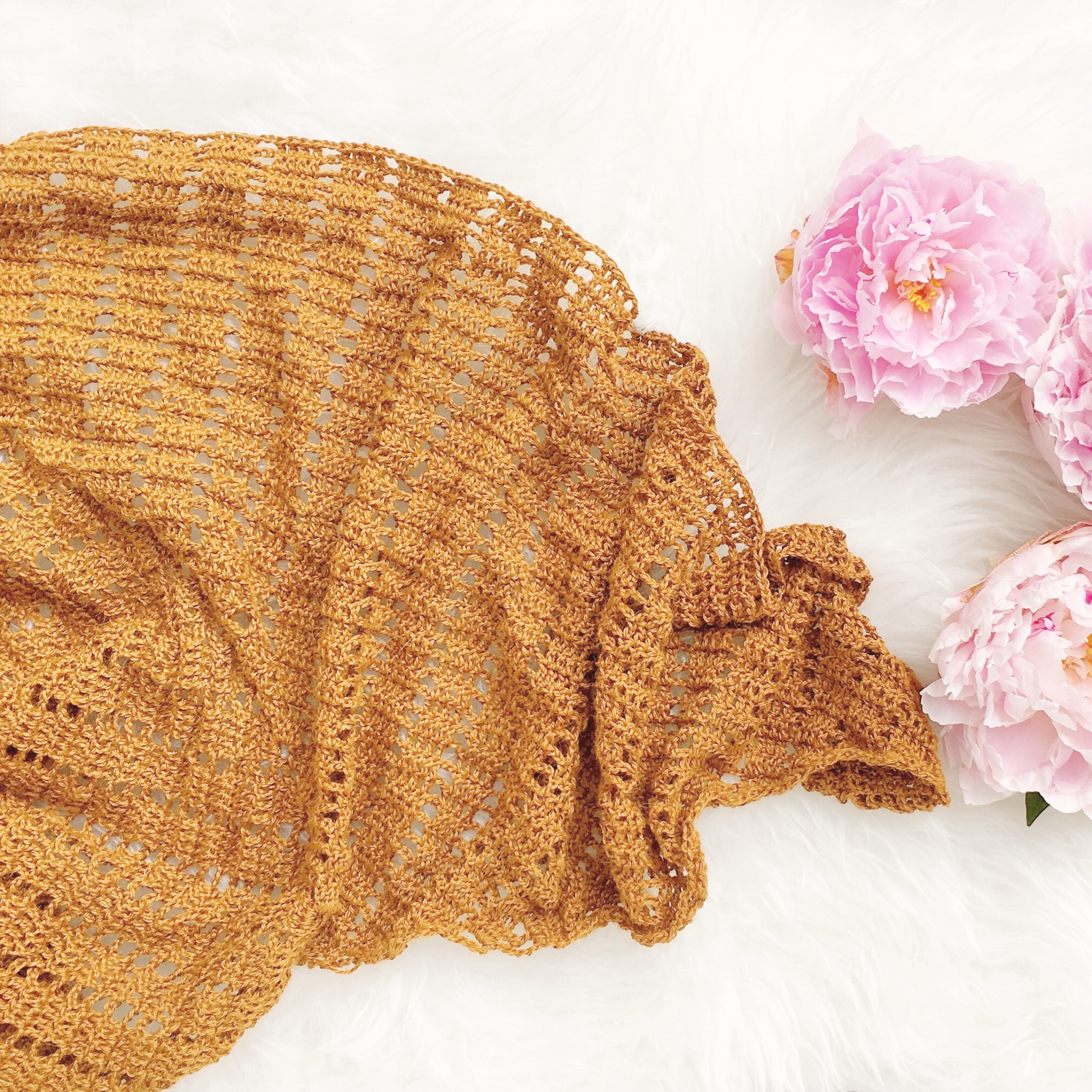 balance - A soothing, meditative crochet project is always welcome and the balance shawl pattern is available as a single pattern or part of the ebook Hanging Rock Designs vol. 1.