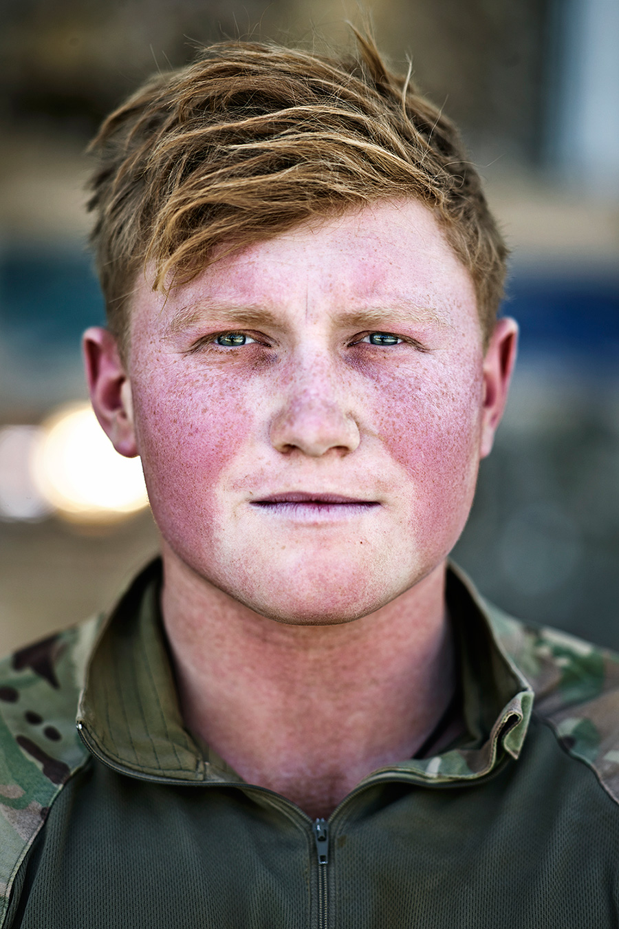 6 SHEET POSTER IN LIVERPOOL   This portrait was taken at Camp Bastion just after the troops had returned from one of the last patrols.