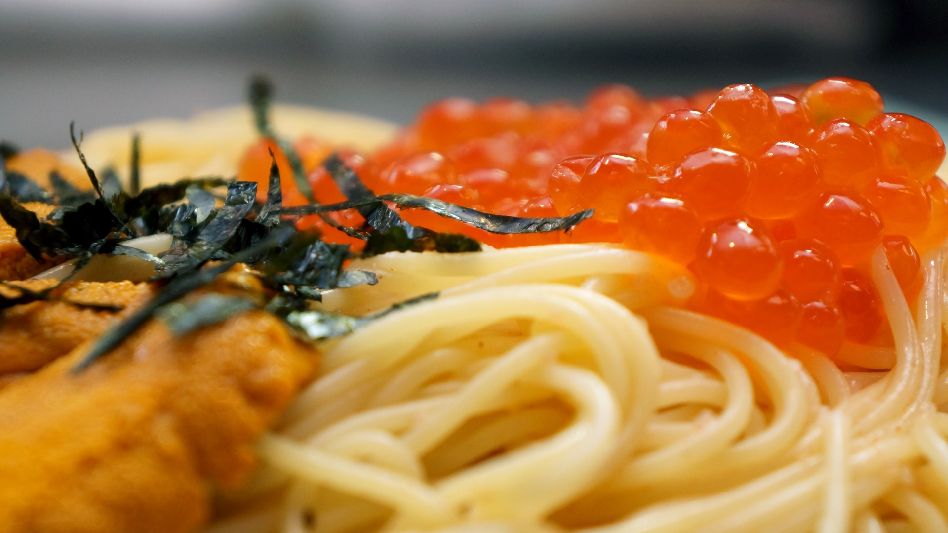Uni and Ikura Pasta