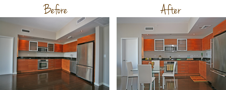 Kitchen with Open Floor Plan, Interior Redesign