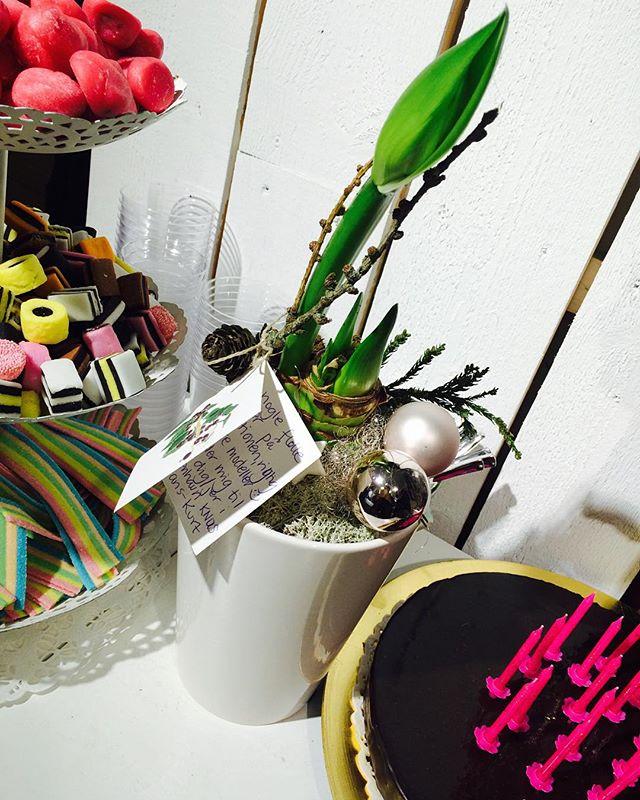Första finaste födelsedagsblomman!!! Tusen tusen tack!
