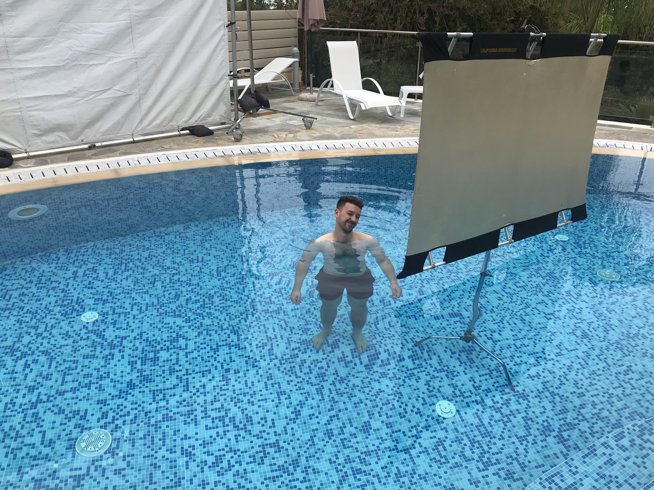 Why are you in the pool ?