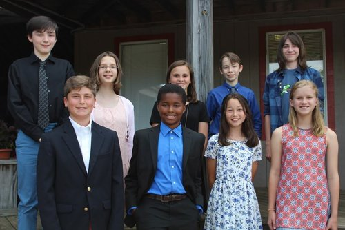 Hickory Day School Class of 2019 was showcased in a front page article in The Hickory Daily Record's Sunday paper on May 20, 2017.