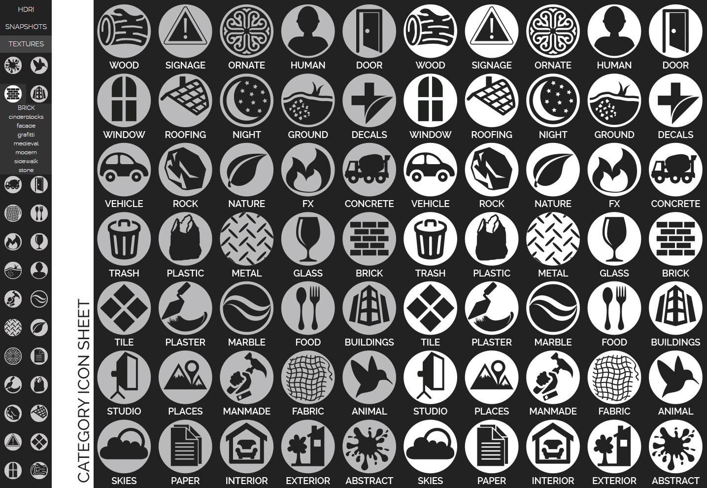 Category Icon Sheet