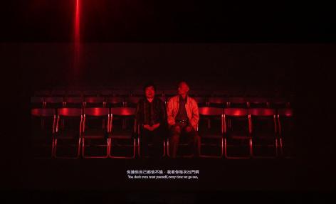 """film still from the """"Prophets"""" installation at TK Gallery"""
