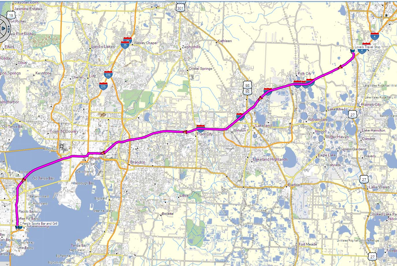 Click the map for the GPS file.