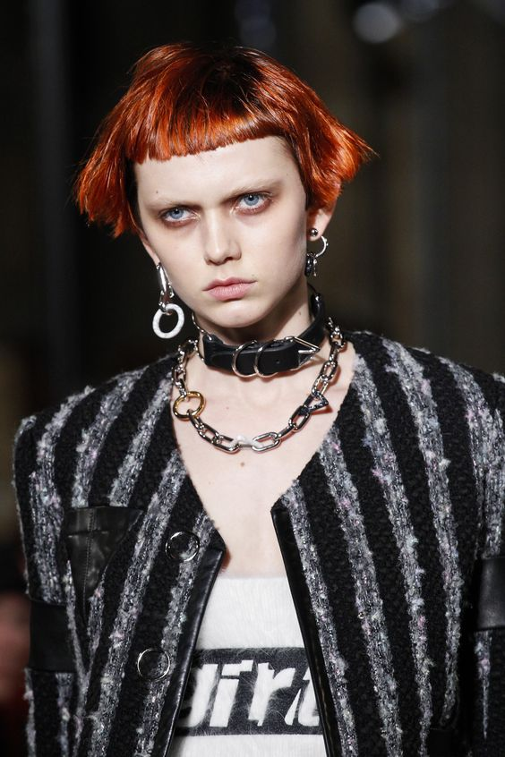 Bruised punky eyes at Alexander Wang