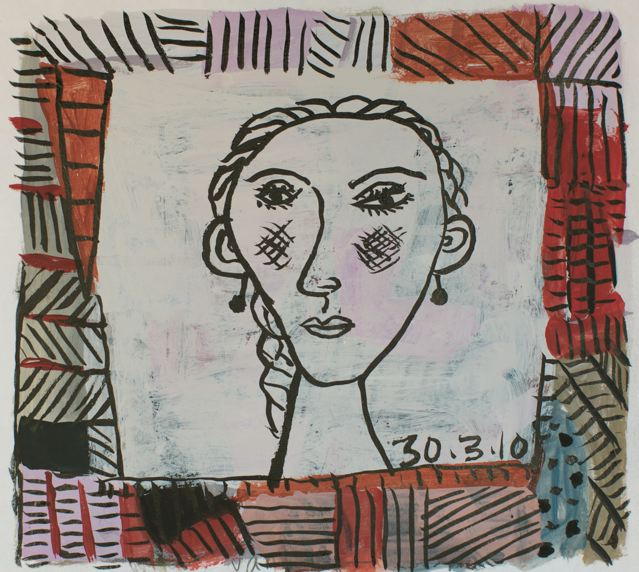 Girl with frame I
