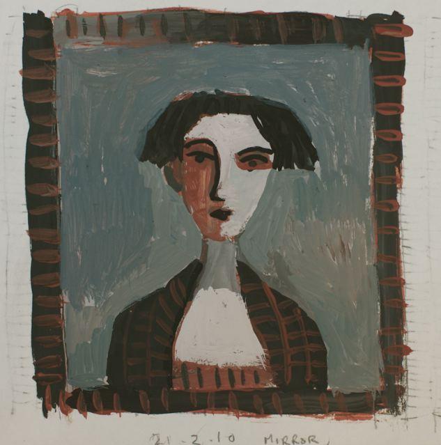 Girl with frame II