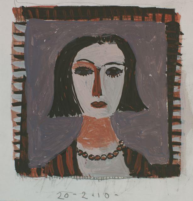Girl with window II