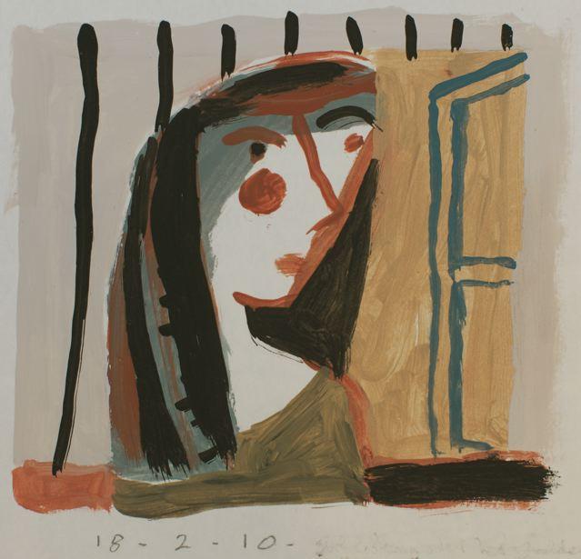 Girl with window III