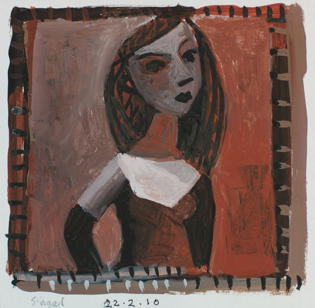 Girl with black glove