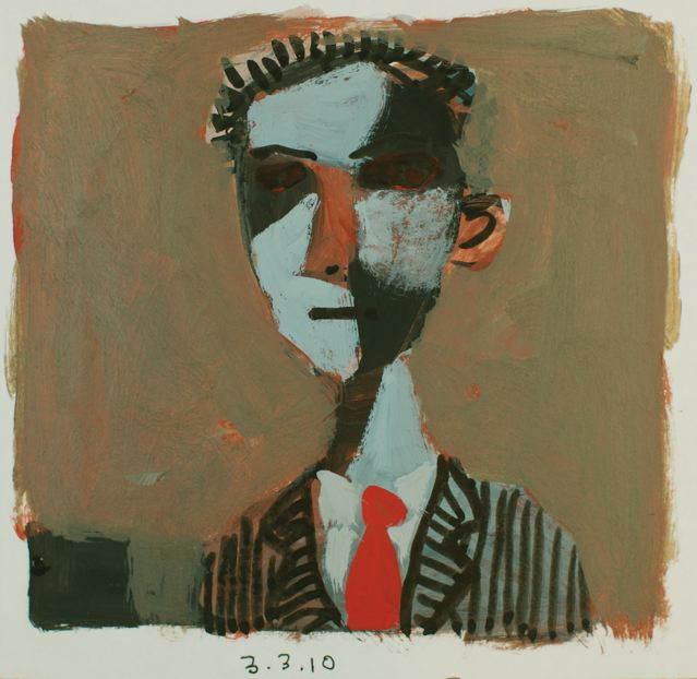 Man with red tie