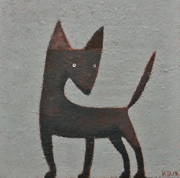 """Screwfix, 16"""" x 16"""", 2018 0il on canvas"""