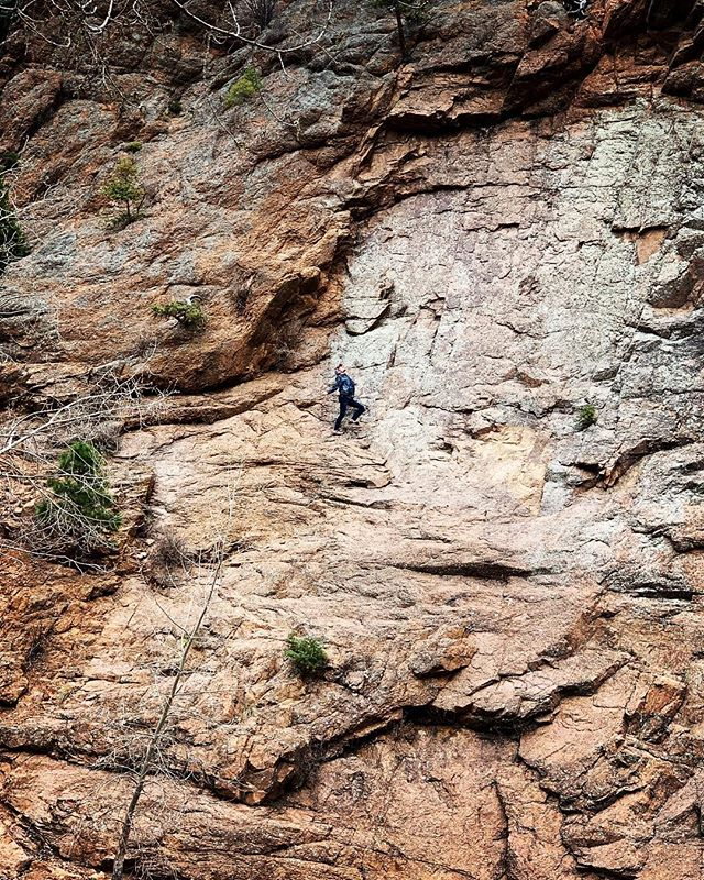 ZOOM IN. (to spot the rare sighting of the majestic andrewlope)#nationalgeographic #freesolo