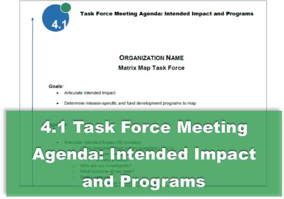 4.1 Task Force Meeting Agenda: Intended Impact and Programs