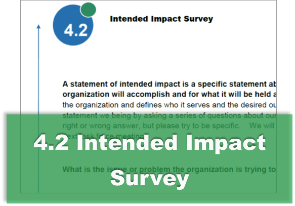 4.2 Intended Impact Survey