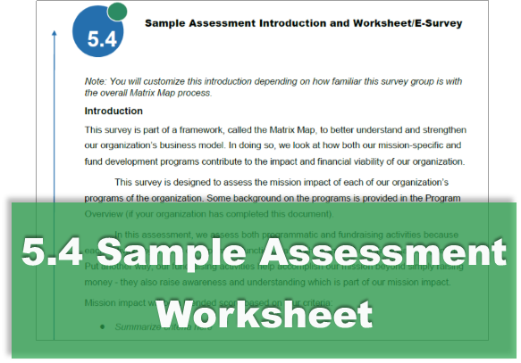 5.4 Sample Assessment Worksheet