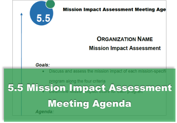 5.5 Mission Impact Assessment Meeting Agenda
