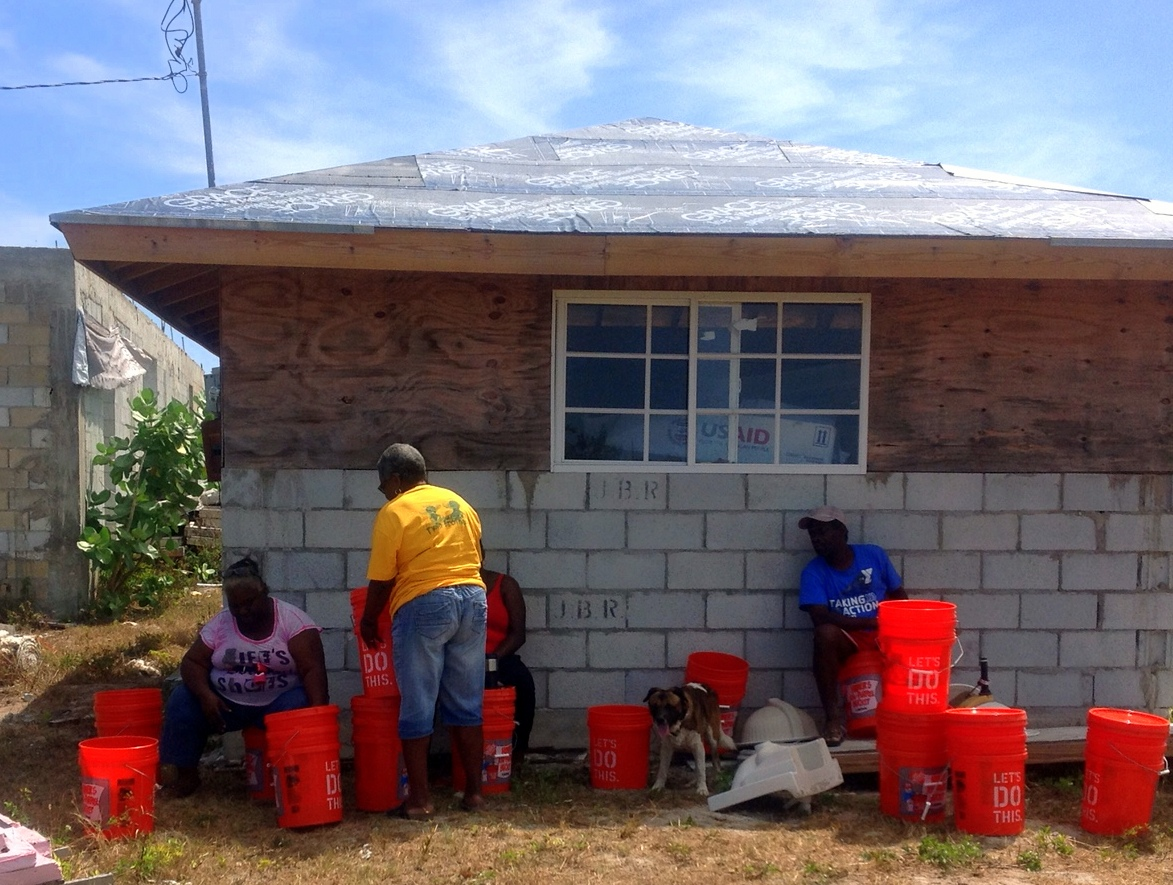 The filtered water is up & running and being used by the residents of Rum Cay!
