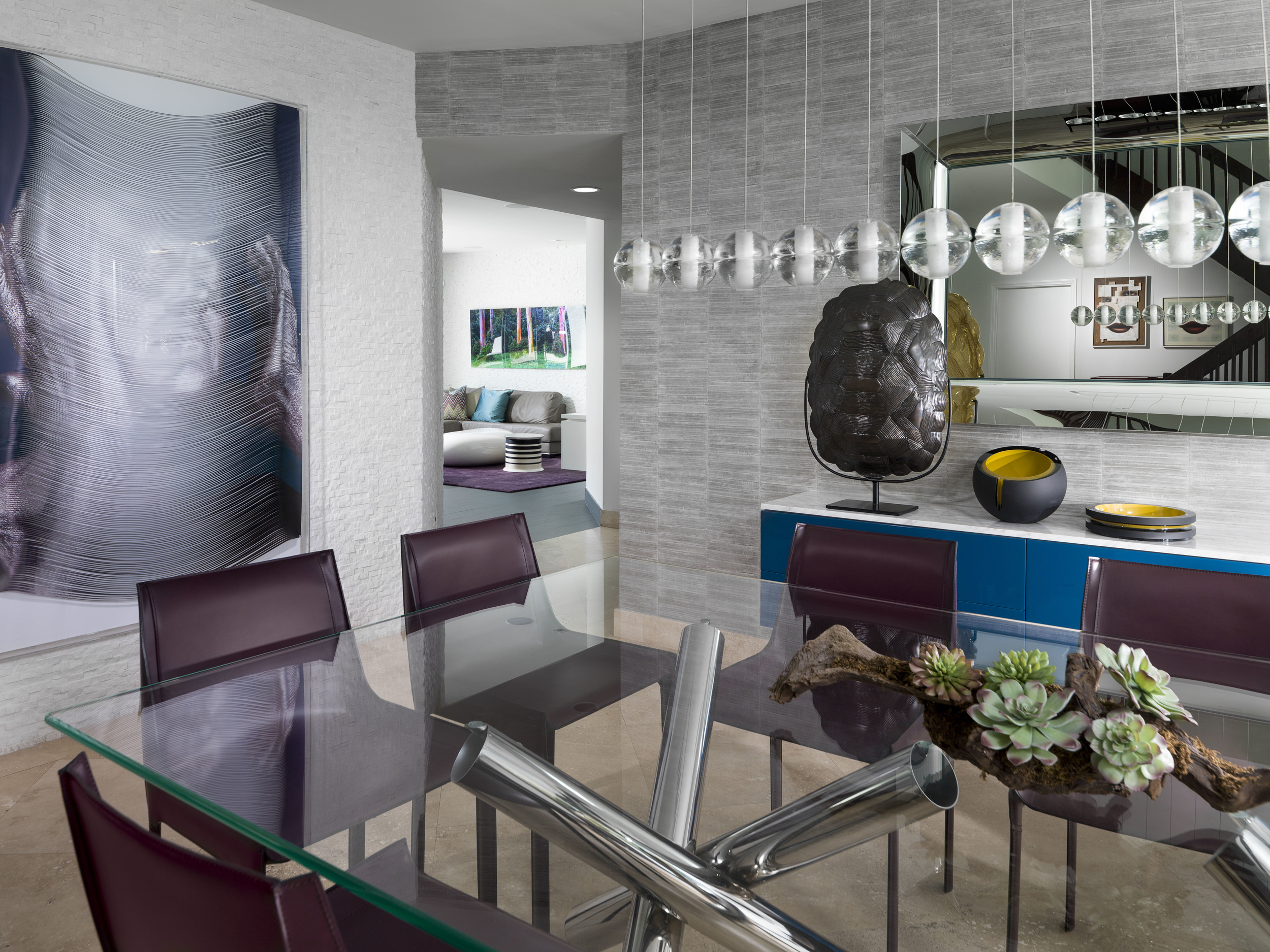 Contemporary Dining Room - AGSIA Design Group