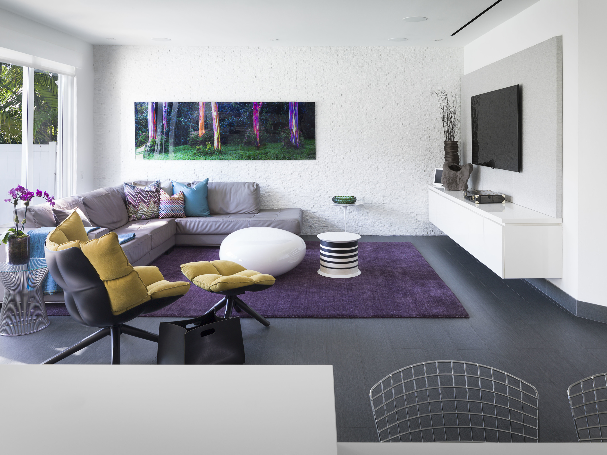 Contemporary Family Room - AGSIA Design Group