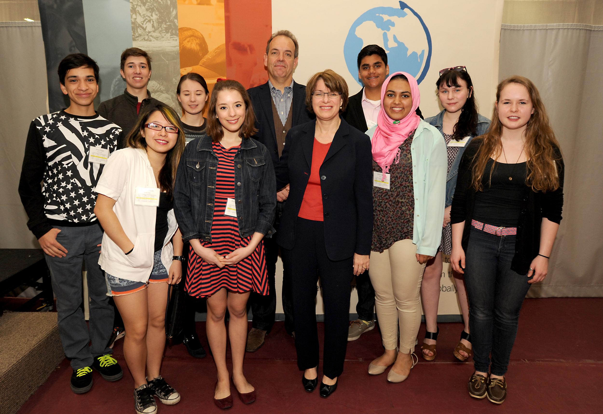 ws_challenge_Sen. Klobuchar with St. Paul Academy students.jpg