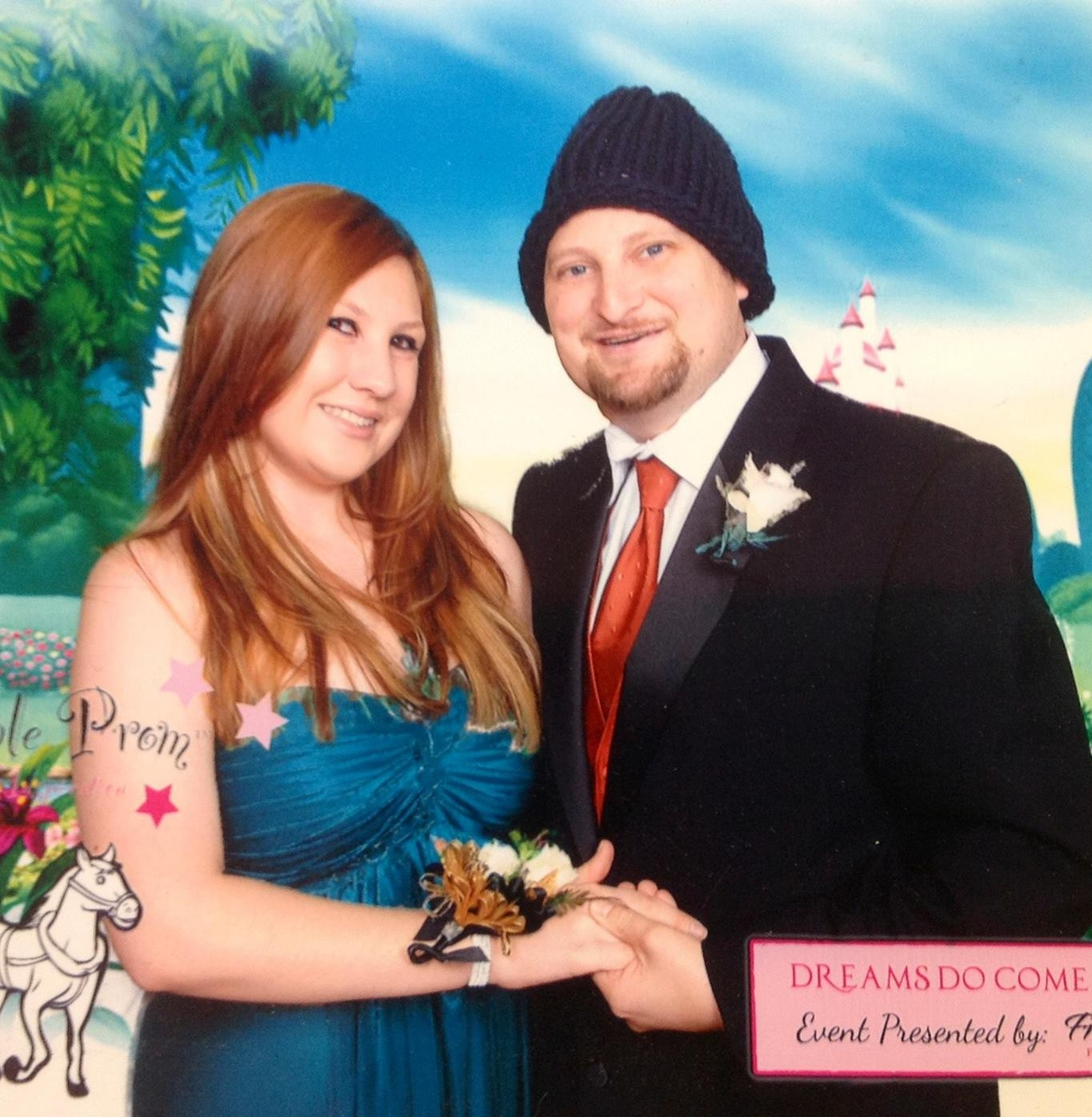Chris (right) and sister Richelle at the Friends of Scott prom in 2012.