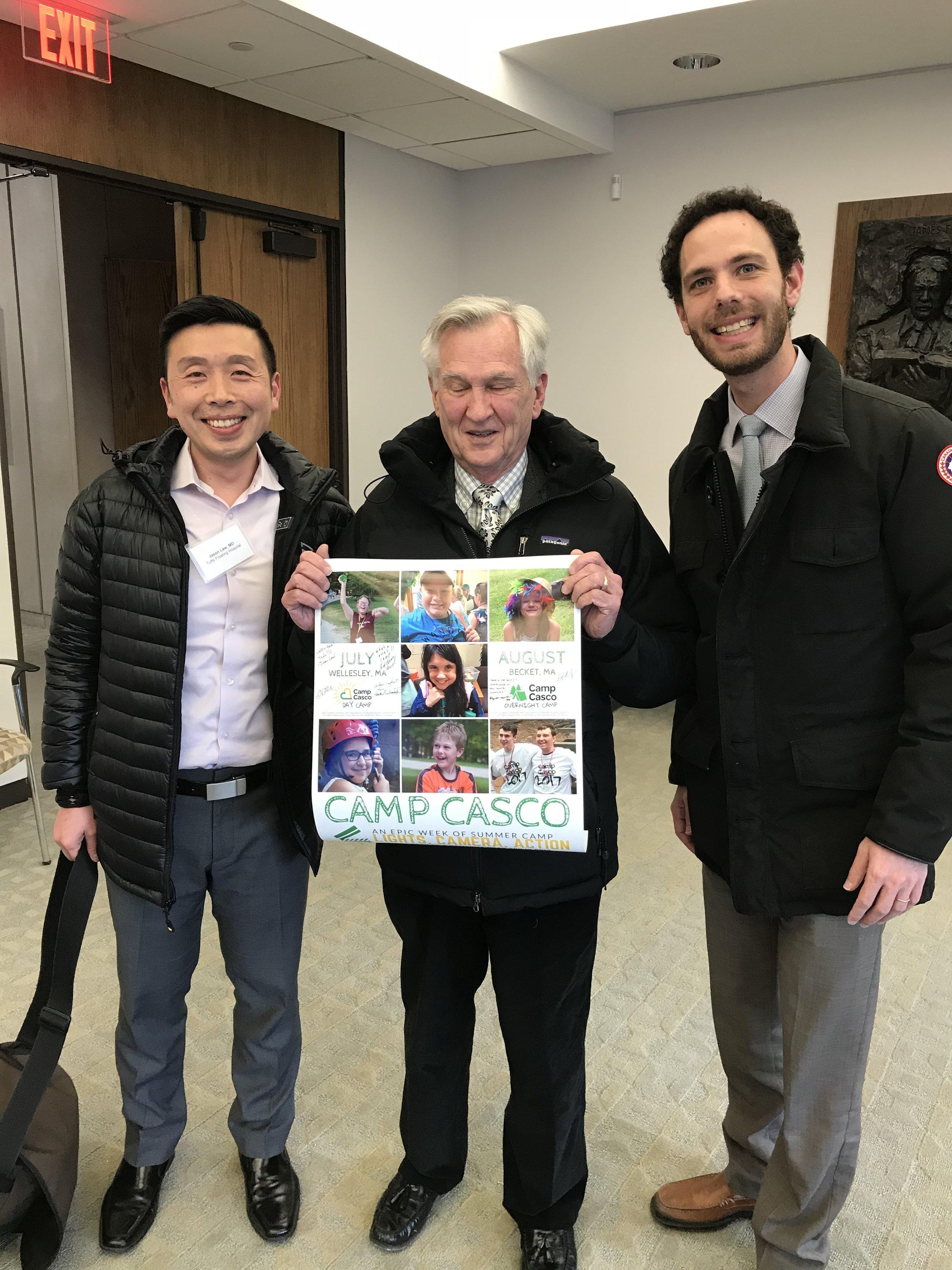L to R: Dr. Jason Law, Dr. Edward Benz, and Dr. Michael Goldberg