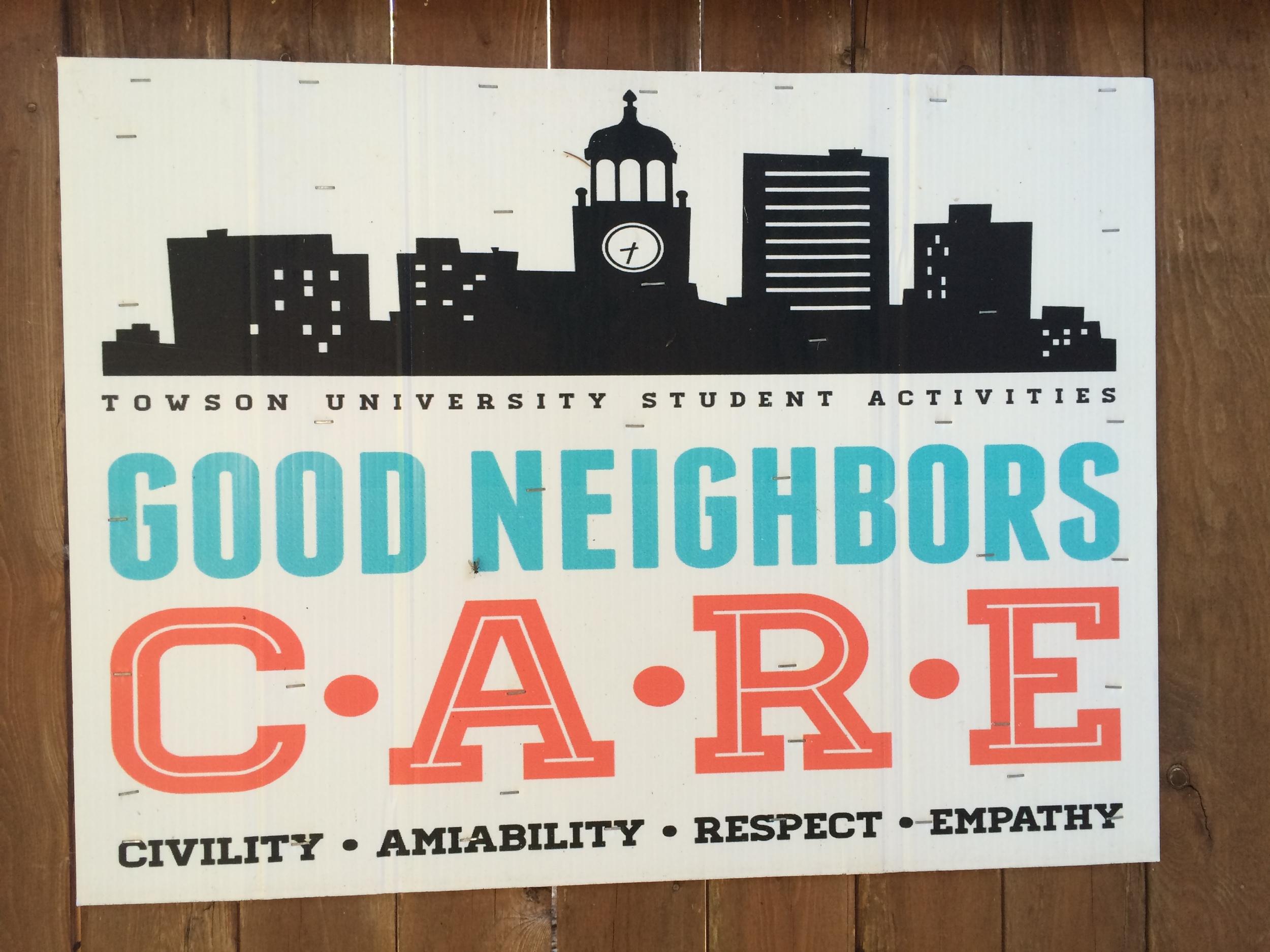 Good Neighborhood Partnership with Towson University