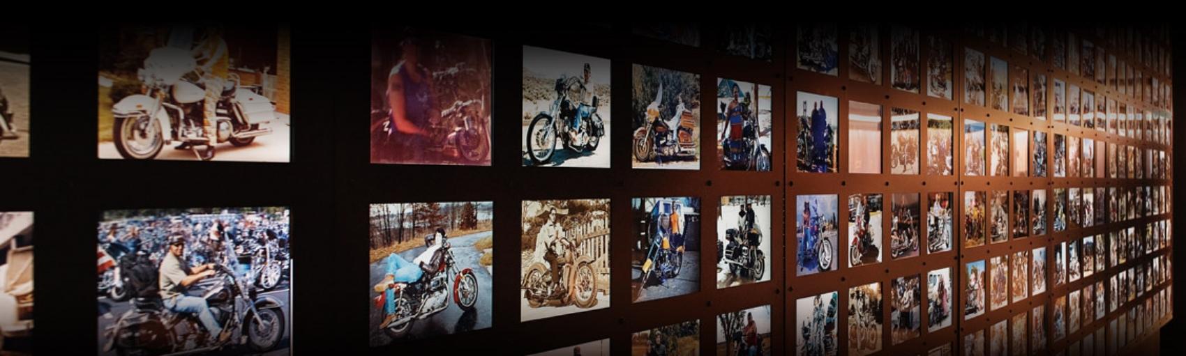 Harley-Davidson® Museum Celebration Wall    Exhibit design by Pentagram