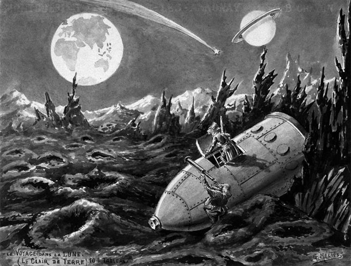Le Voyage dans la Lune  illustration by  Georges Méliès