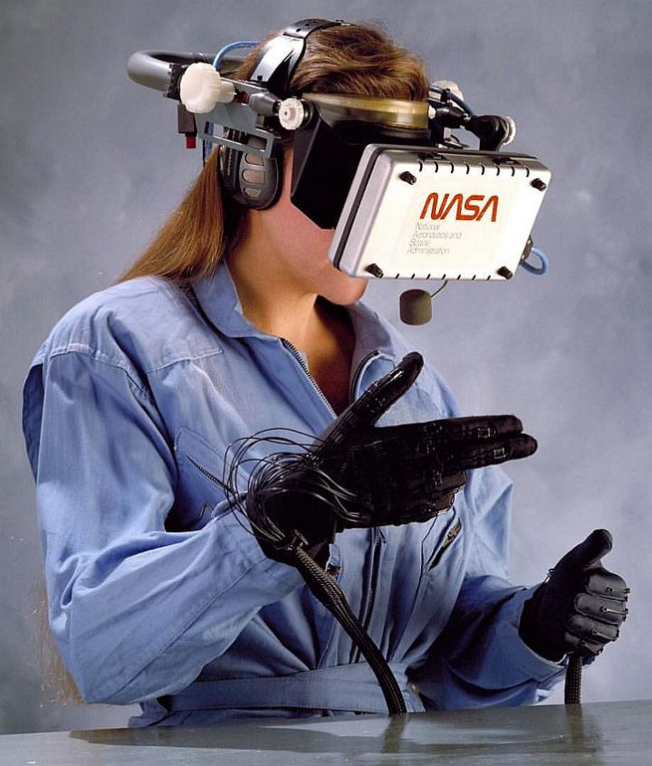 """Inner Space Suit with First Person Shooter Gloves"". NASA's 1989 Virtual Reality Gear •  NASA"